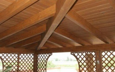 Porticato in legno - Alife -CE6